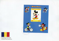 Chad 2018 FDC Mickey Mouse 1v M/S Cover Disney Cartoons Animation Stamps