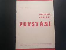 1944 - 1945 SLOVAK NATIONAL UPRISING AGAINST FASCISM BOOK