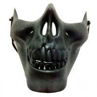 Halloween Skull Mask Airsoft Ghost Rider Cosplay Skeleton Half Face Costume New