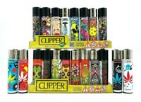 12 X Original Brand CLIPPER LIGHTERS Full Size Refillable Multipurpose Mix Style