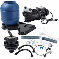 "2450GPH 13"" Sand Filter Above Ground 10000GAL Swimming Pool Pump Pressure Gauge"