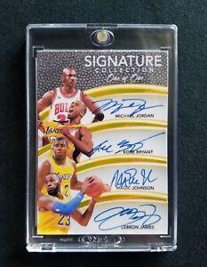 Panini Immaculate Kobe Bryant Michael Jordan Lebron James Auto Reprint Rare🔥