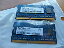 8GB 2x4GB PC3-12800 DDR3 1600MHZ 204pin LAPTOP RAM- MATCHED PAIR ELPIDA