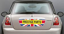 Union Jack Placa de Matrícula Trasera Envolvente Calcomanía Para BMW Mini R56 Genuino OEM Calidad