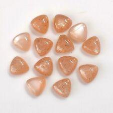Lowest Price 10 CT. Natural Peach Moonstone Loose Gemstone 13 PC Lot M-135