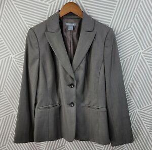 Ann Taylor Size 8 Blazer Suit Jacket Wool Silk Blend Lined career professional