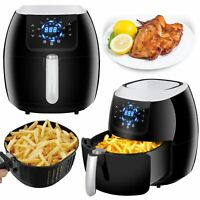 Home Large Capacity Air Fryer W/ LCD Screen, Non-sitck Coating and Recipe 1800W