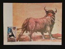 SPAIN MK 1965 STIER BULL TORO TOROS MAXIMUMKARTE CARTE MAXIMUM CARD MC CM c8049