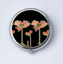 Art Nouveau Poppies Flowers PILL CASE pillbox pill holder mucha