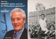 Je 1 Autogramm von den Fußball WM Weltmeister 1954nHans Schäfer + Ottmar Walter