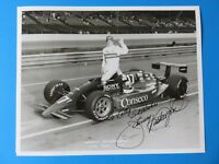JOHNNY RUTHERFORD SIGNED 8x10 PHOTO ~ INDY AUTO RACING ~ 100% GUARANTEE