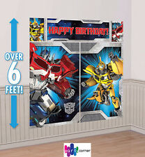 Transformers Party Supplies SCENE SETTER WALL Decorating Kit / Back Drop