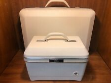 Vintage Sears Forecast Deluxe Cream Suitcase and Travel Case - MINT CONDITION!!