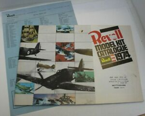 Rare Vintage Revell Model Kit Catalogue 1974 Inc Price List, Full Colour