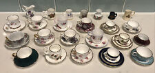 Vintage Miniature China Tea Cup & Saucer Sets Huge Lot of 44 Bluebird, Shelly ++