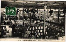 CPA La fabrication du tissu .- Filature - La preparation  (190538)