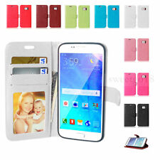 Genuine Real Leather Flip Wallet Case Cover For Samsung S3 S4 S5 S6 Note3 4 5