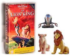 Lion King, The (1994) Figure & VHS Tape movie PAL English Simba Nala or Sarabi