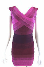 Celebrity style amethyst ombre bodycon bandage dress