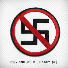ANTI NAZI Badge Embroidered iron on patch DIY Decorate Clothes Dress Coat Vest