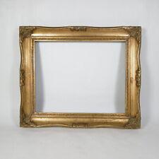 R412 ANTICA CORNICE IN LEGNO DORATO DORATA ORO VINTAGE interno 25 x 20 cm