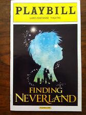 Finding Neverland playbill Broadway Matthew Morrison  Grammer opening night