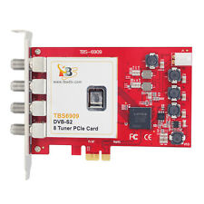 TBS 6909 DVB-S2 8 Tuner PCIe Card OCTA IPTV Streaming Media Monitoring TV for PC