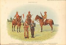 1900 Richard SIMKIN stampa militare, 150 tipi di South AUSTRALIAN Reggimenti