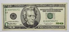 1996 $20 Federal Reserve Note Chicago Fr# Offset Error AG83970547I FR#2083