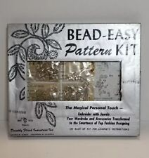 Vintage Dorothy Flicek Bead Easy Pattern Kit Craft House Embroider With Jewels