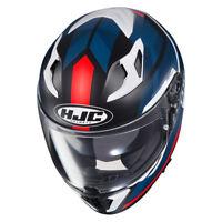 New HJC i 70 ELIM Full Face Motorcycle Helmet in built sunvisor -RED/Blue ZE