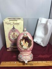 "New Spinning Heavenly Angels ""Edelweiss"" Egg Music Box NIB"