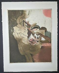Gerhart Bergmann, Abstrakte Komposition, Radierung, signiert & datiert, 1974
