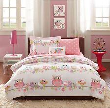 8-PC Girls Colorful Owl Floral Print Comforter Sheet Set Kids Bedding Full Size