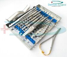 Dental Implant Micro Oral Surgery Kit 10 Pcs With Cassette By Delmaks