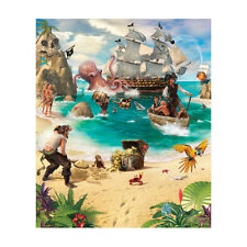 Bedroom WALL STICKERS cm 244x201 Pirate and Treasure Adventure 42131 Walltastic