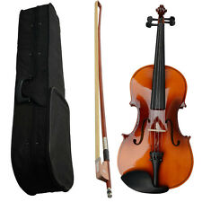 """16"""" Size High Quality Basswood Student Acoustic Viola + Case + Bow + Rosin Brown"""