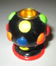 "MINI RESIN DISCO BALL PARTY LIGHT STYLE CANDLE HOLDER  1.5"" TALL"
