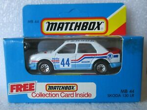 Vintage MATCHBOX MB44, SKODA 130 LR, RALLY CAR with COLLECTION CARD