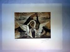 Salvador Dali Litografia 50 x 65 Bfk Rives Timbro a secco Firmata a Matita D277