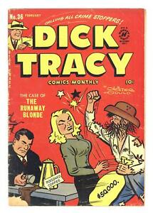 Dick Tracy Monthly #36 GD/VG 3.0 1951
