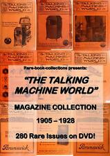 280 ANTIQUE RADIO & PHONOGRAPH MAGAZINES ON 2 DVD's - TALKING MACHINE WORLD