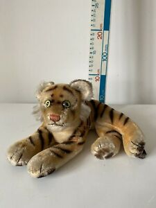 Vintage German Mohair Steiff Tiger Plush Soft Toy