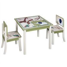 Kindersitzgruppe 2 Stühle u. Tisch aus Kiefer Massivholz für Kleinkinder Mädchen