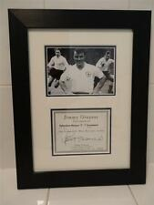 GENUINE LIMITED EDITION HANDSIGNED JIMMY GREAVES (FORMER FOOTBALLER) FRAMED