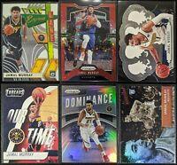 Lot of (6) Jamal Murray, Including Prizm /125, Dominance Silver, Aficionado RC