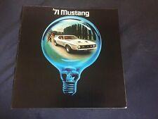 1971 Ford Mustang Mach 1 Boss 302 Color Brochure Catalog Prospekt