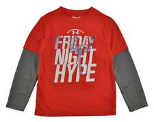 Under Armour Boys Red Friday Night Hype Top Size 5
