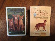 Natural World Playing Cards, Cats of the World, Complete, New