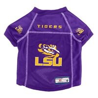 LSU Tigers NCAA LEP Dog Pet Mesh Jersey, Purple Licensed Sizes XS-XL